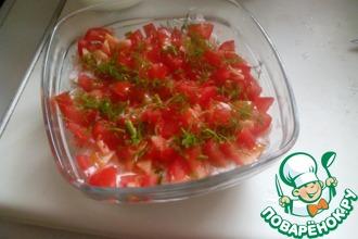 Рецепт: Творожный салат с креветками
