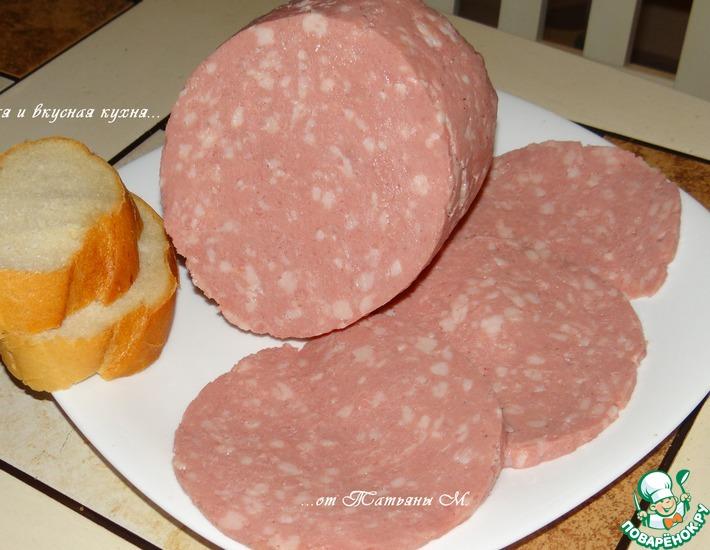Рецепт: Колбаса «Любительская» домашняя по ГОСТу