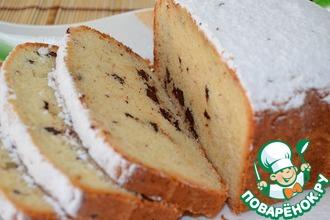 Рецепт: Простой кекс с шоколадом в хлебопечке