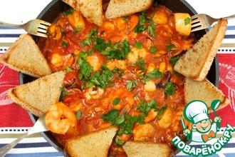 Рецепт: Соте из морепродуктов