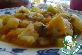 Рецепт: Постное овощное рагу