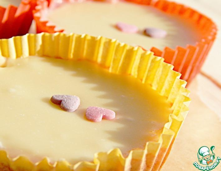 Рецепт: Десерт из сливового желе и белого шоколада