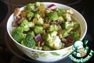 Рецепт: Салат из сырой брокколи