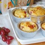 Рисовые кексы-пудинги с виноградом