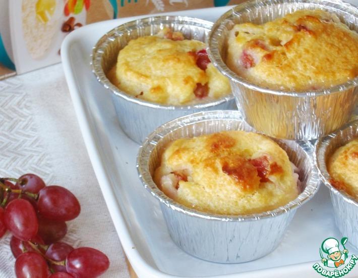 Рецепт: Рисовые кексы-пудинги с виноградом