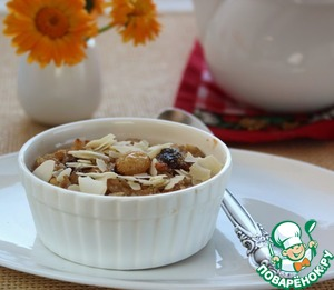 Irish oatmeal with cranberries and raisins