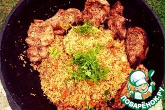 Рецепт: Рис с бараниной по-деревенски