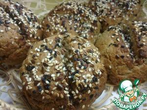 Рецепт Булочки из 5 злаков к завтраку с тмином