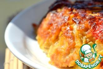 Рецепт: Мясной злаковый пирог с томатами и базиликом