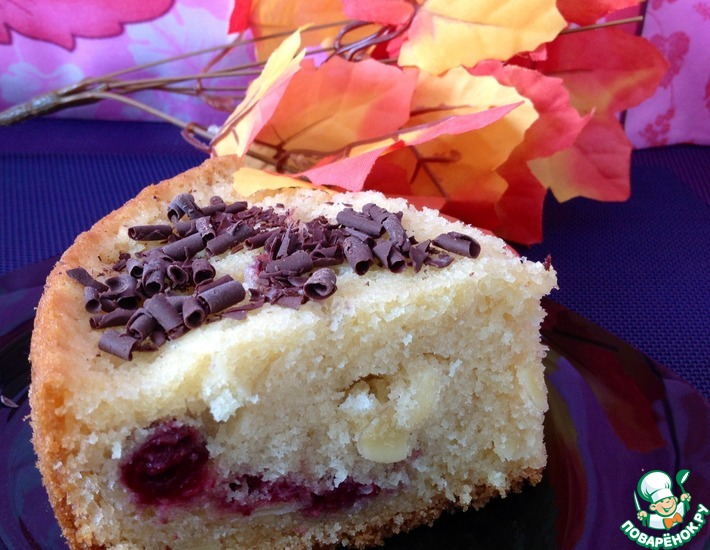 Рецепт: Миндально-вишневый пирог  Ностальгия
