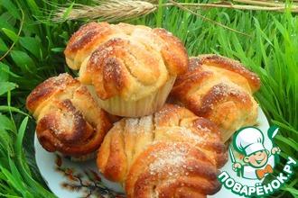 Рецепт: Утренние булочки с коричной начинкой