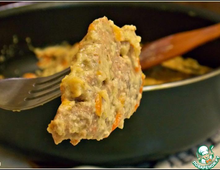 Рецепт: Свиная вырезка с грибами в сметане
