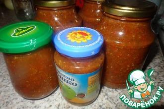 Рецепт: Томатный соус с кинзой на зиму