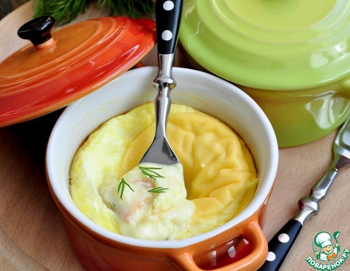 Рецепт: Омлет с овсяными хлопьями и сыром
