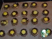 Перепелиные яйца, запеченные в шляпках грибов ингредиенты