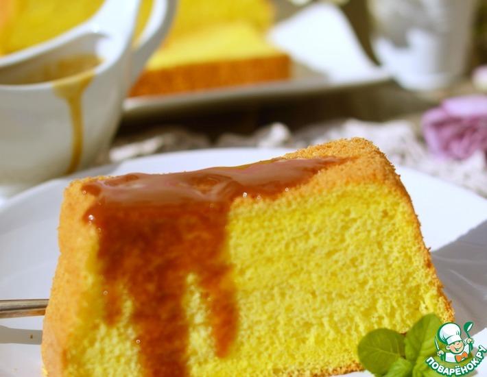 Рецепт: Бисквит Золото с карамелью