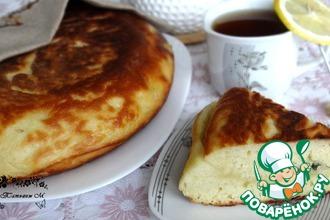 Рецепт: Жареный пирог на кефире с сыром