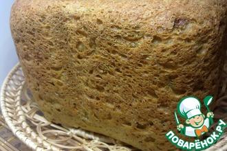 Рецепт: Хлеб овощной с овсяными хлопьями в хлебопечке
