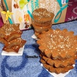 Шоколадно-творожные кексы с рисовой начинкой