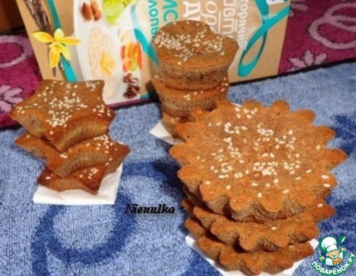 Рецепт: Шоколадно-творожные кексы с рисовой начинкой