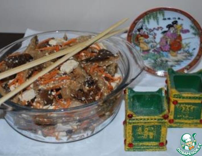 Рецепт: Грибной салат с тофу