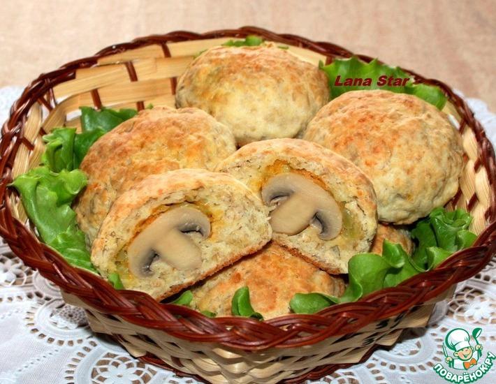Рецепт: Сырно-овсяные булочки с сюрпризом