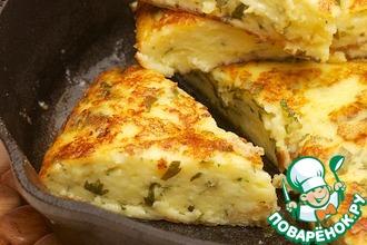 Рецепт: Быстрая сырная лепешка