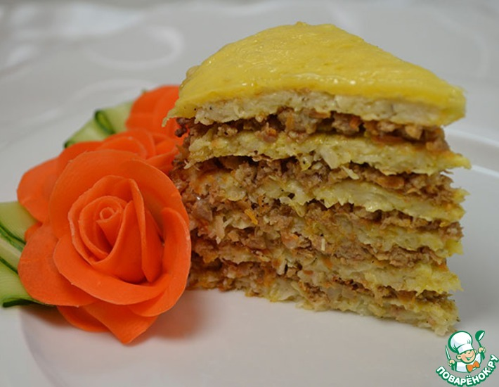 Рецепт: Капустный торт