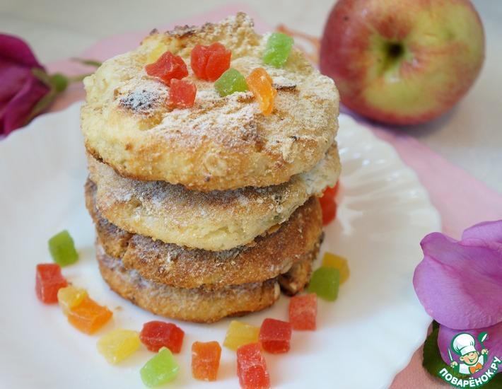 Рецепт: Запеченные сырники с овсянкой и цукатами