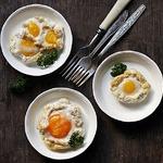 Запеченые яйца с хлопьями