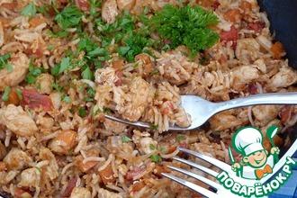 Рецепт: Рис с курицей Наси горенг