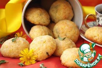 Рецепт: Сырно-пшенное печенье с тимьяном