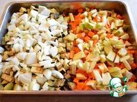 Икра баклажанная с тыквой и яблоком ингредиенты
