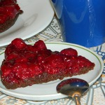 Шоколадно-вишневый торт без выпечки, на завтрак