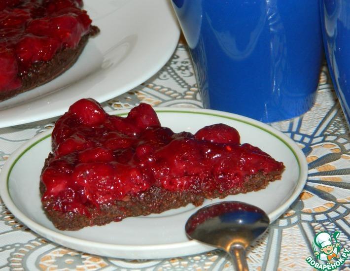 Рецепт: Шоколадно-вишневый торт без выпечки, на завтрак