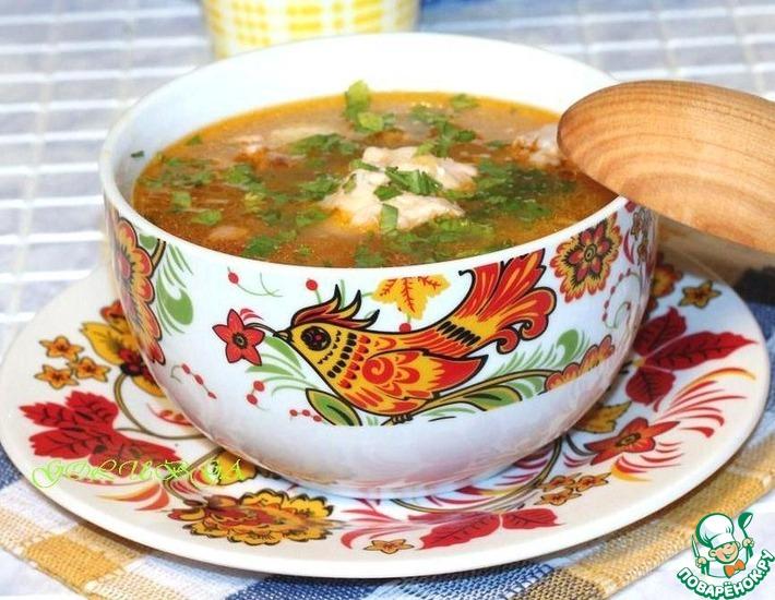 Рецепт: Суп куриный с томатом и сыром