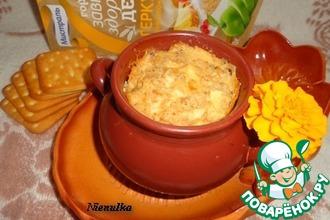Рецепт: Овсяная каша с яблоком и изюмом Чудесный горшочек