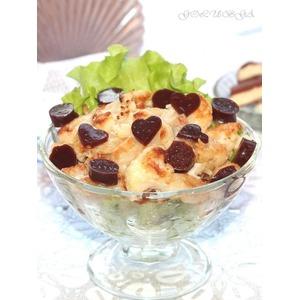 Карамельная цветная капуста с шоколадным желе