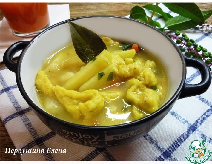 Рецепт: Суп манный с морковными клецками