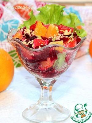 Рецепт Марокканский салат со свеклой и апельсинами