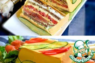 Рецепт: Сырный закусочный торт