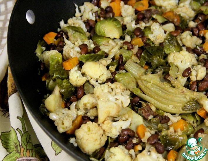 Рецепт: Фасоль вегетарианская