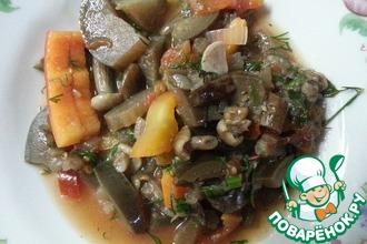 Рецепт: Салат из баклажанов и грибов на зиму