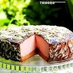 Торт с муссом и малиновым конфи – кулинарный рецепт