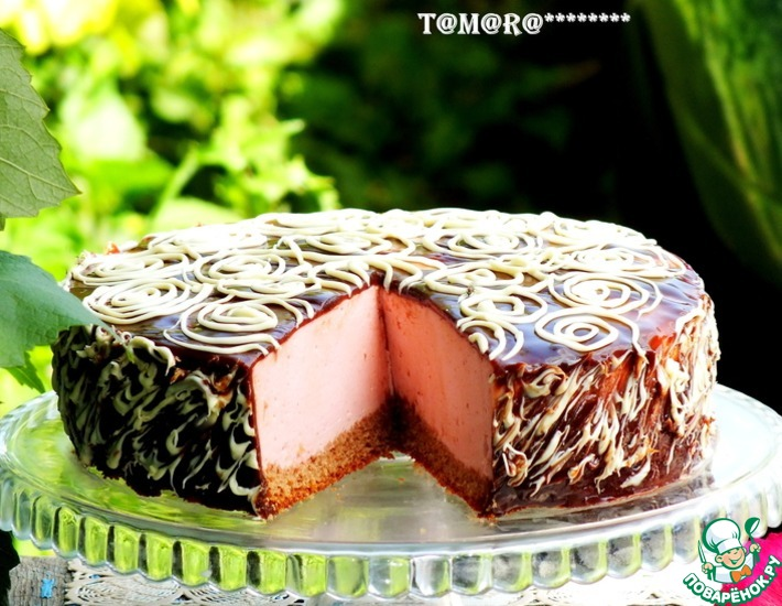Рецепт: Торт с малиновым суфле