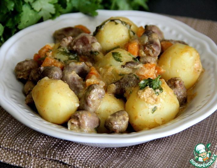 Рецепт: Жаркое из молодого картофеля в кокосовом молоке