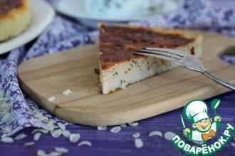 Рецепт: Киш с тунцом и сыром на рисовой основе
