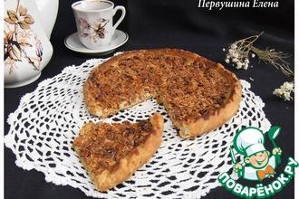 Рецепт: Пицца медово-ореховая с овсяными хлопьями