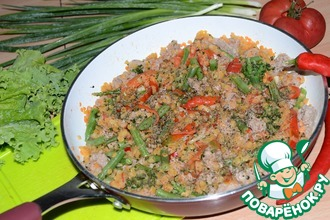 Рецепт: Чечевица с овощами и пастой карри Семейная