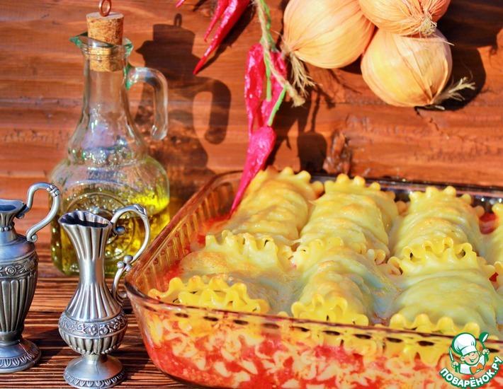 Рецепт: Лазанья-рулоны с начинкой из цукини с сыром